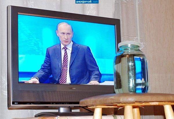 Заряжавших воду перед телевизором
