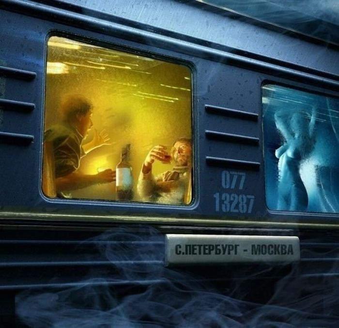 фото приколы в поездах бабы