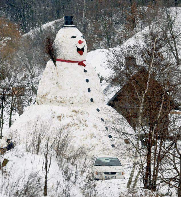 איש שלג מקורי מאוד